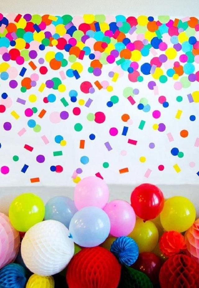 Decoração com balões para festa de carnaval