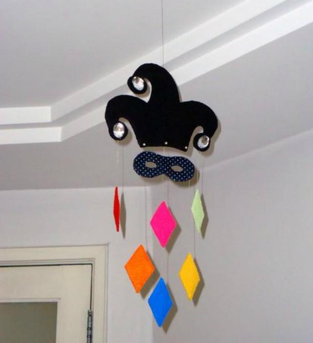 Decoração de carnaval de teto