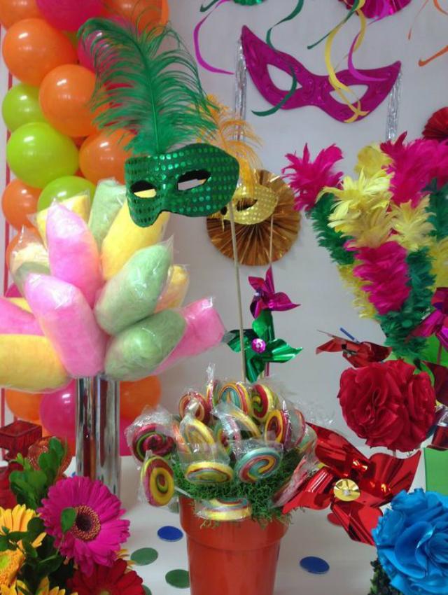 Mesa de doces de carnaval