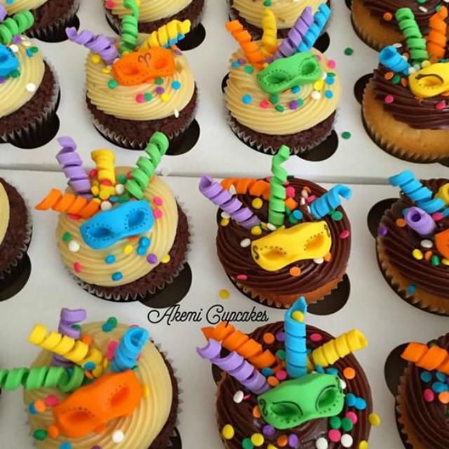 Cupcake de carnaval