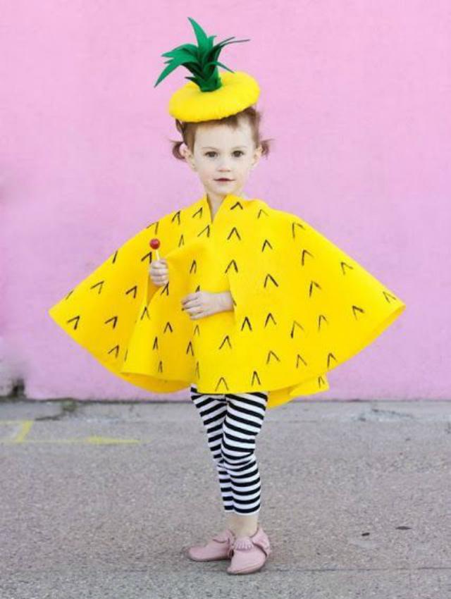 Fantasia Infantil de abacaxi