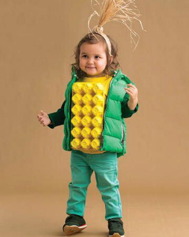 Fantasia Infantil de espiga de milho