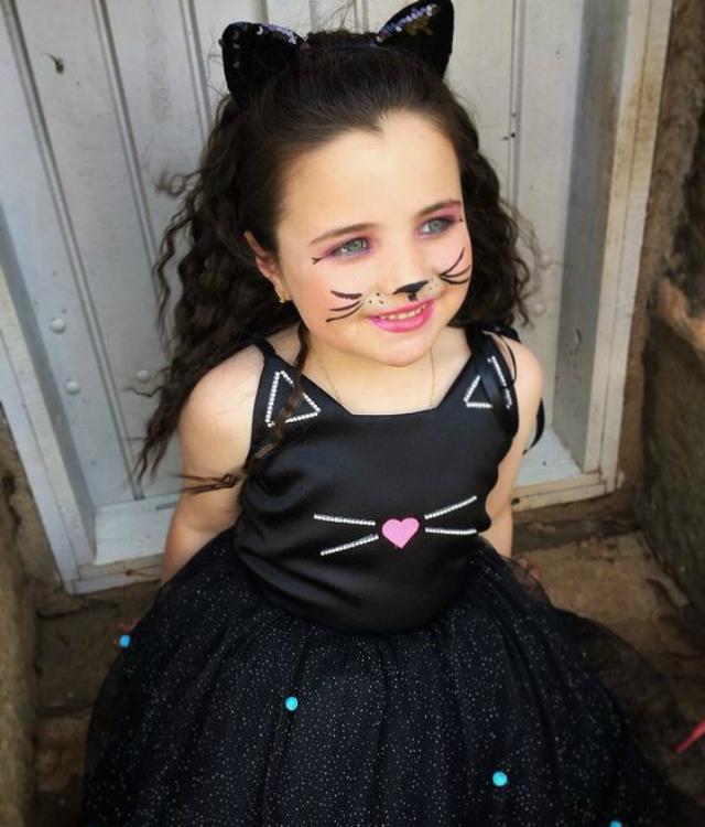 Fantasia Infantil de gatinha