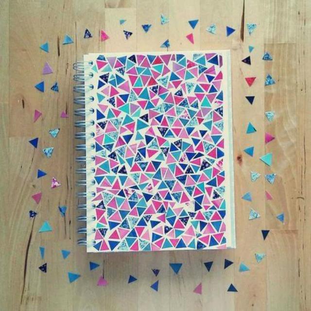 Caderno personalizado com retalho