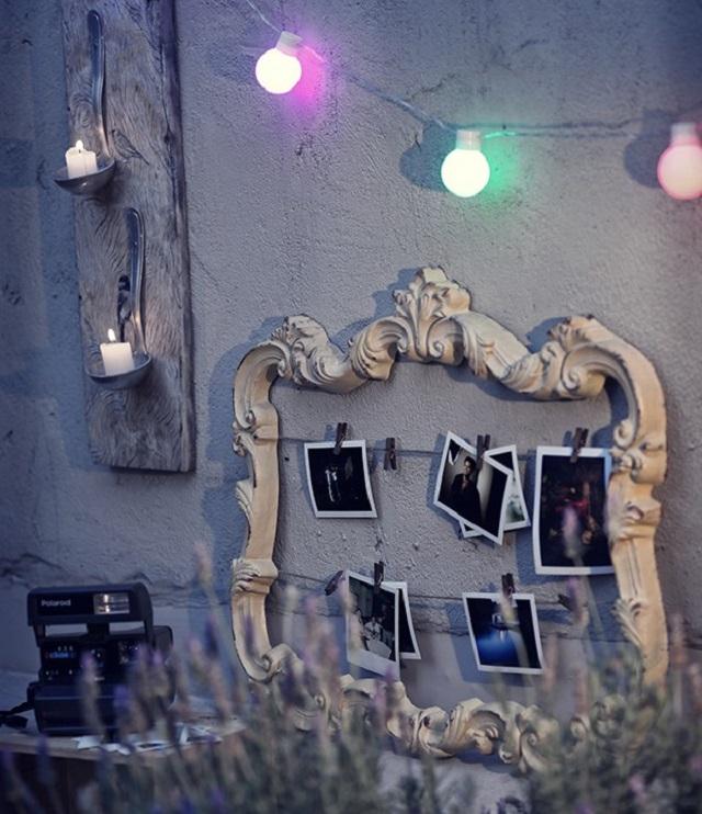 Mural de fotos com moldura