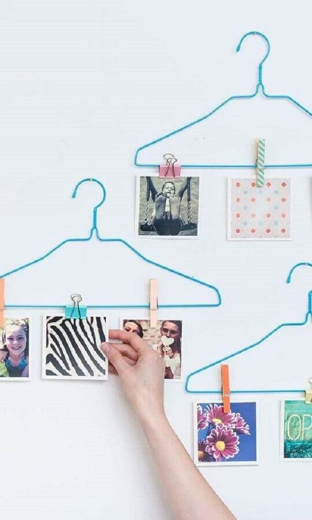 Mural de fotos com babide