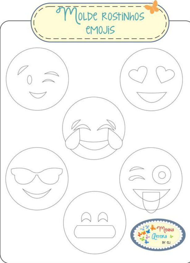 Molde de rostinhos emojis