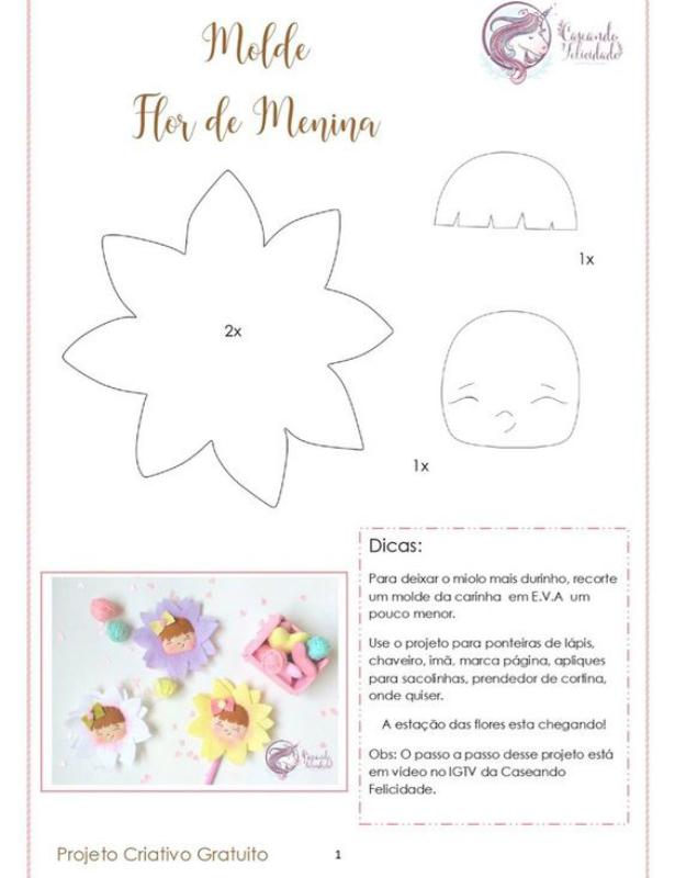Molde de Flor de Menina