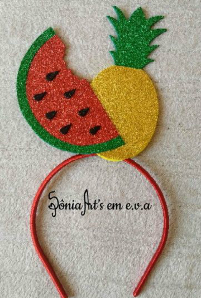 Tiara de EVA com frutas
