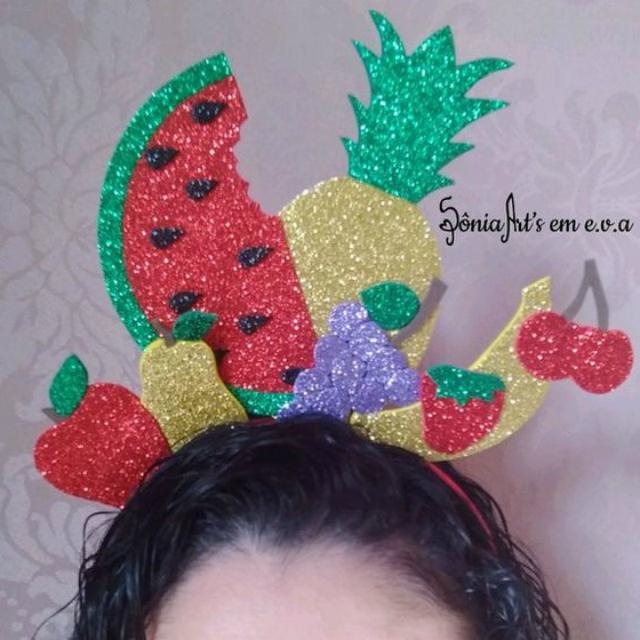 Tiara de EVA de frutas