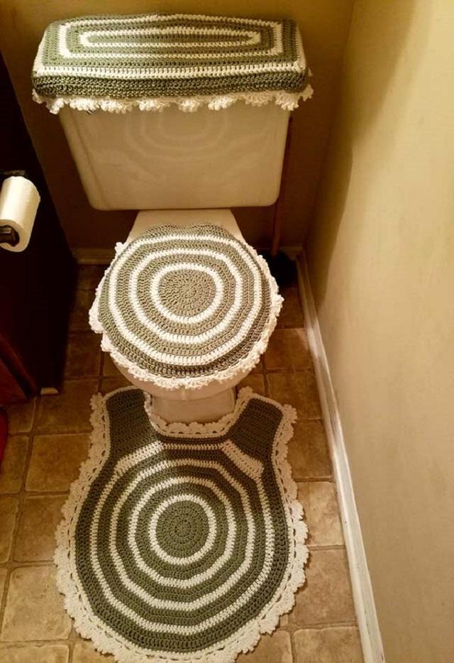 Jogo para banheiro de crochê