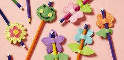 Aprenda a Fazer 9 Lindas Ponteiras de Lápis em EVA: Moldes para Baixar