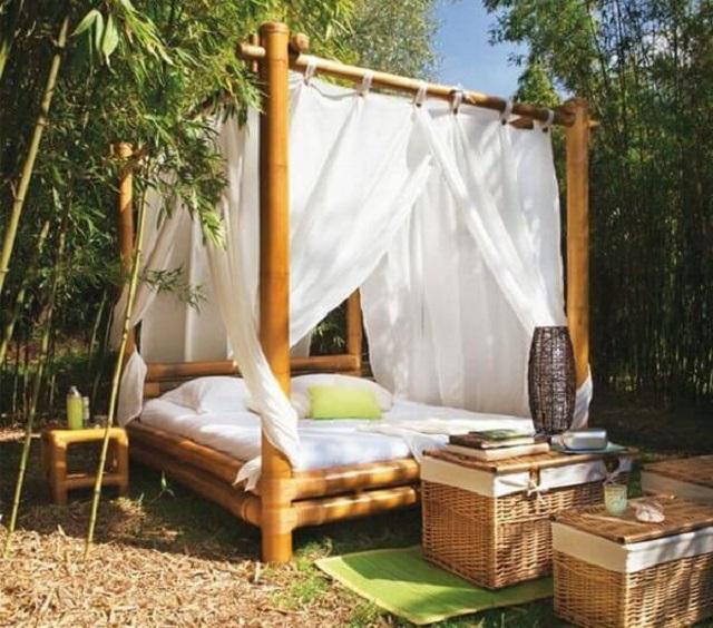 Tenda de bambu