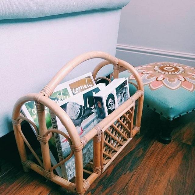 Porta revista de bambu
