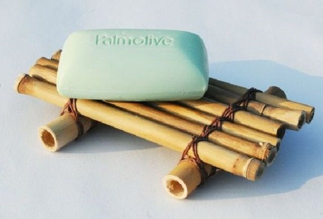Porta sabonete de bambu