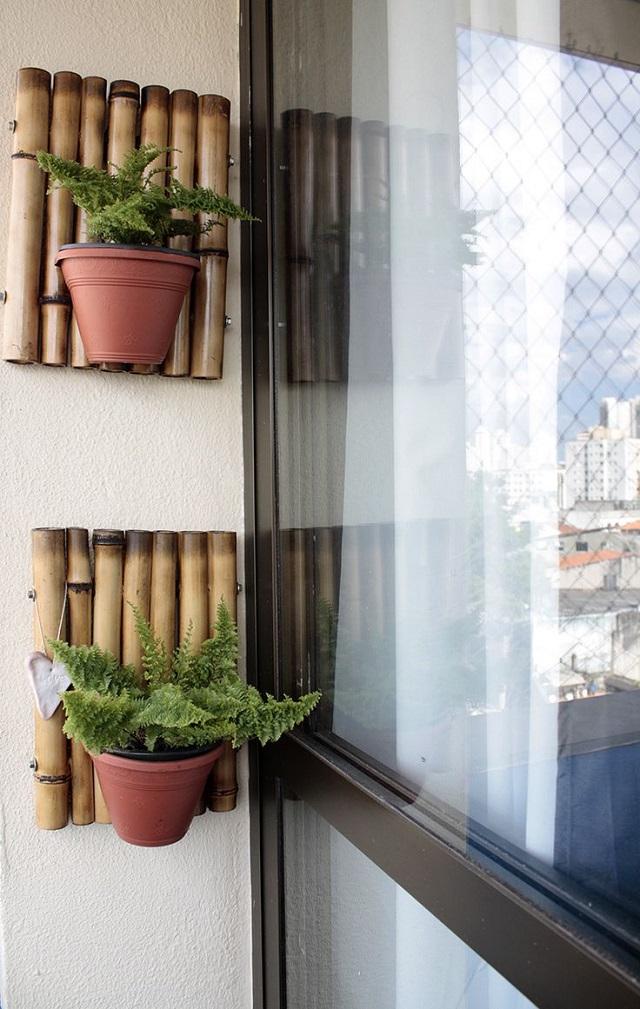 Suporte para plantas de bambu