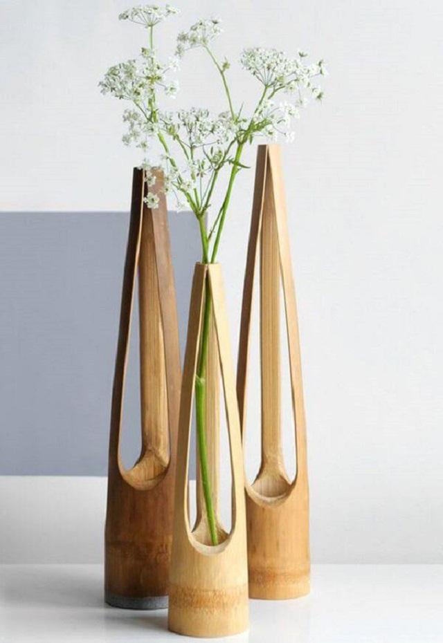 Vaso de planta de bambu