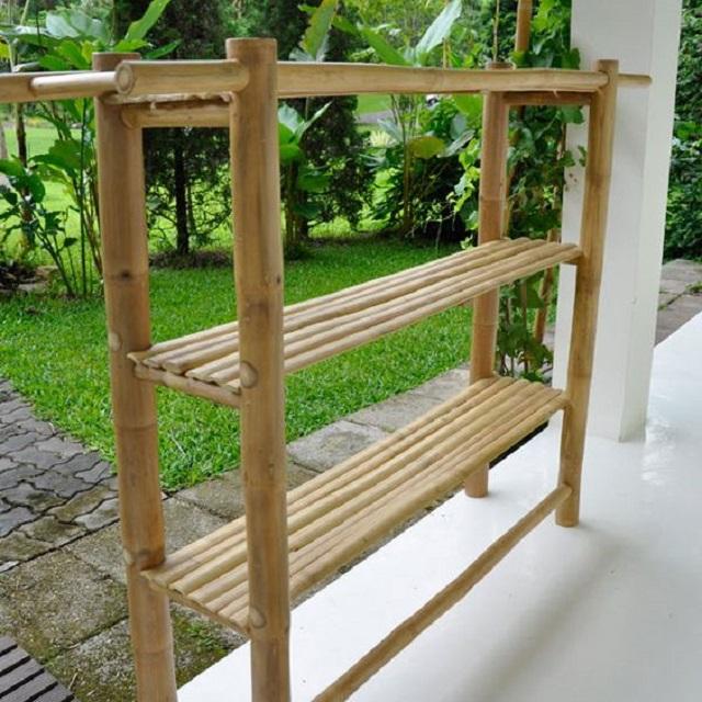 Prateleira de bambu