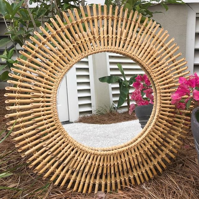 Moldura de bambu
