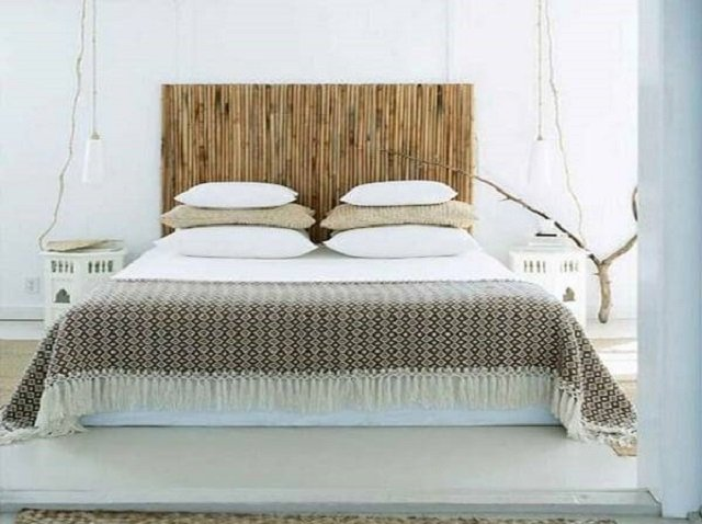 Cabeceira de bambu