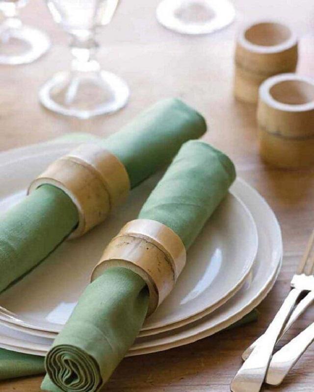 Porta guardanapo de bambu