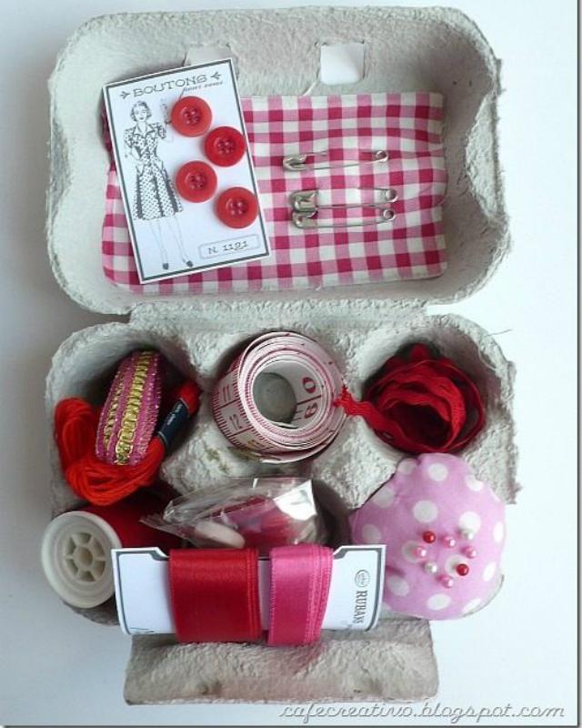 Kit de costura de caixa de ovo