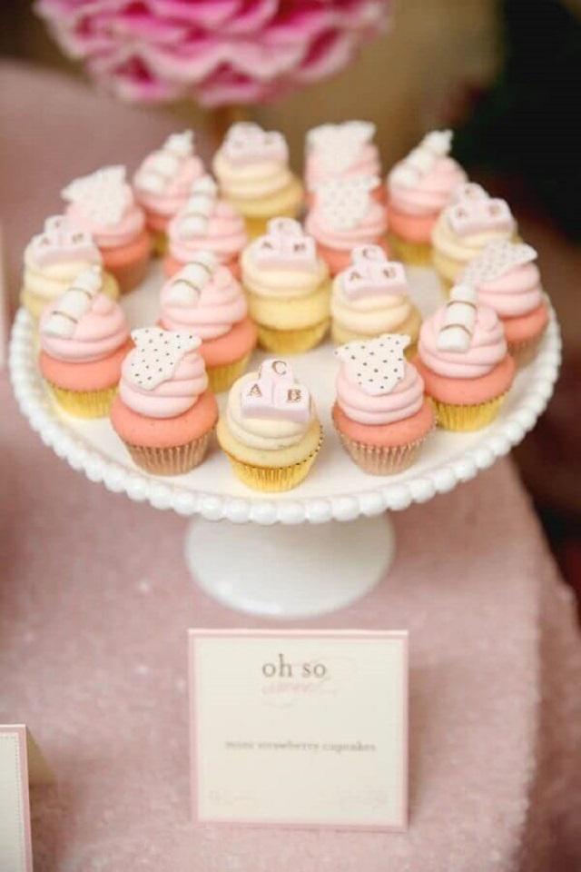 Cupcake chá de fraldas