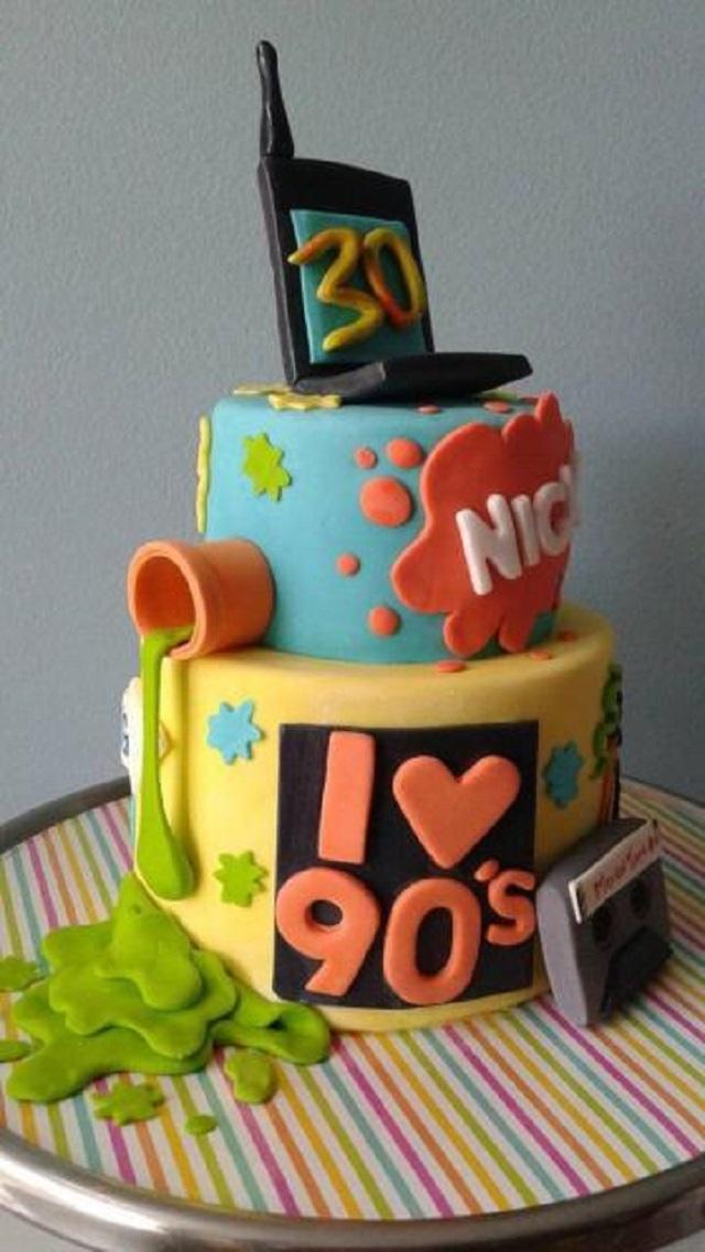 Bolo Nickelodeon anos 90
