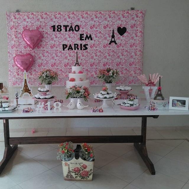 Festa com tema Paris