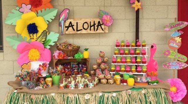 Festa com tema Havaí