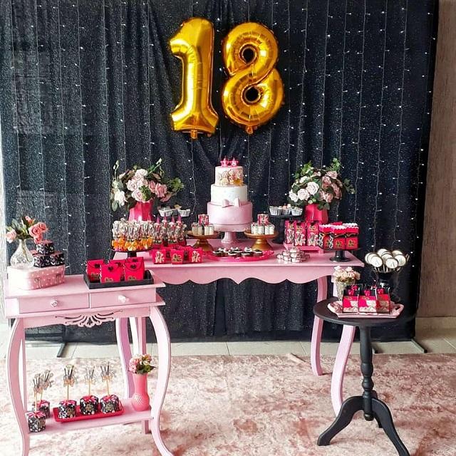 Decoração de festa de 18 anos
