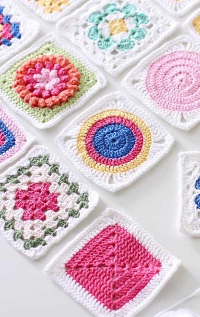 Guardanapo de crochê colorid