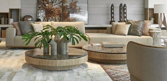 Centro de mesa com plantas
