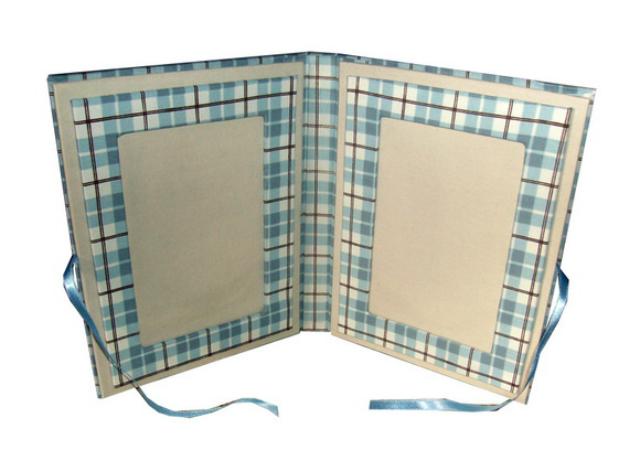 Porta retrato de papelão com tecido