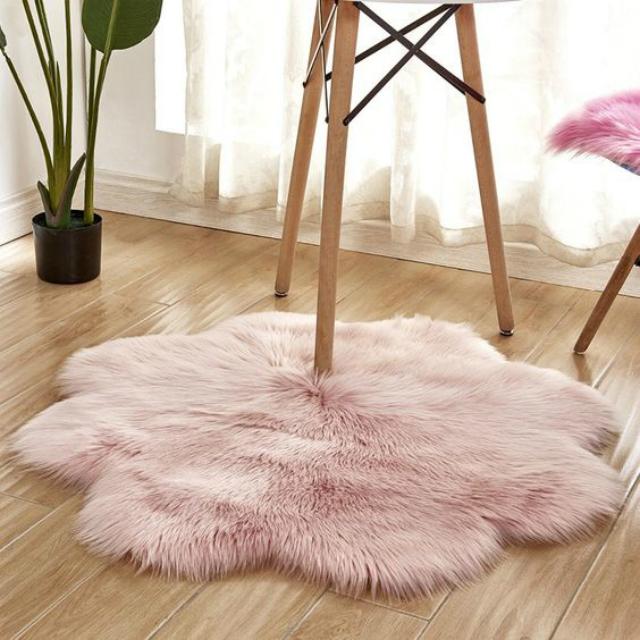 Tapete felpudo rosa claro