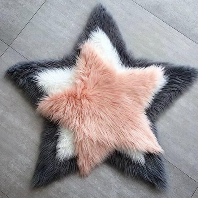Tapete felpudo em formato de estrela