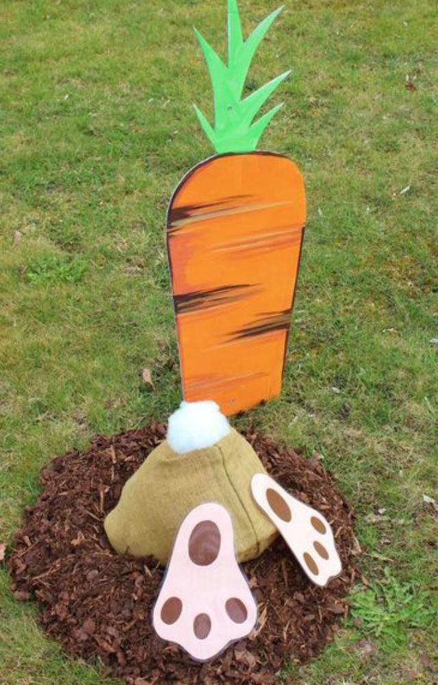 Decoração de Páscoa para o jardim