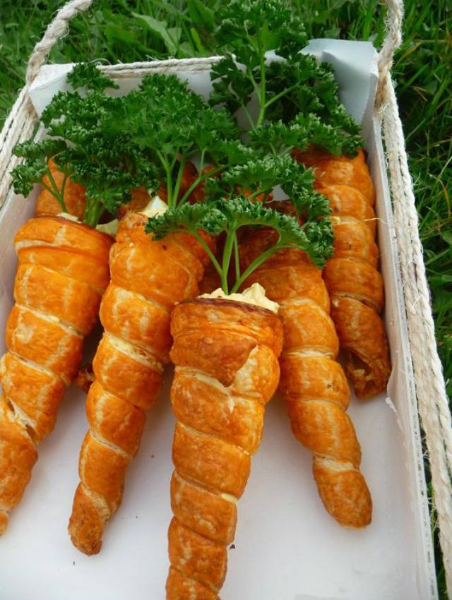 Comida imitando cenoura