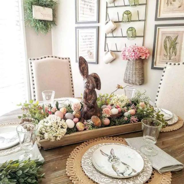 Enfeite de centro de mesa de Páscoa