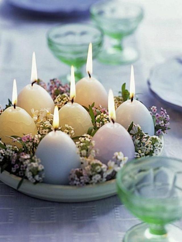 Velas em formato de ovo