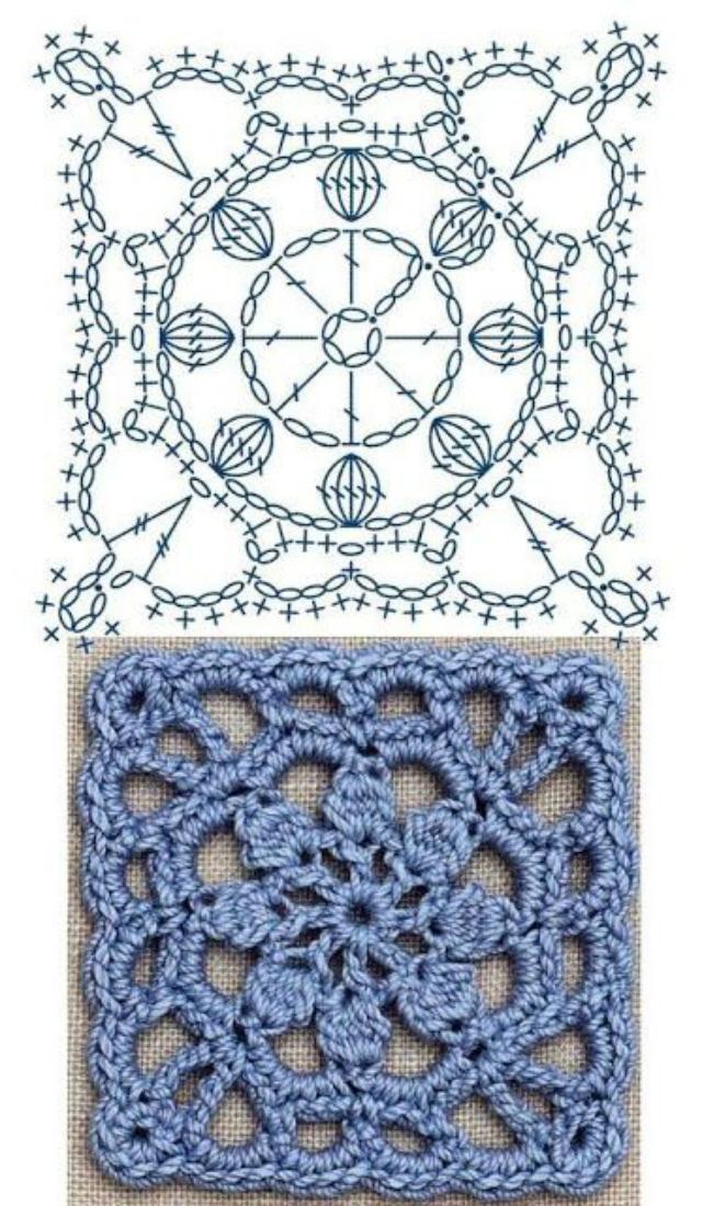 Quadrado De Crochê Passo A Passos E Gráficos Para Baixar Revista Artesanato