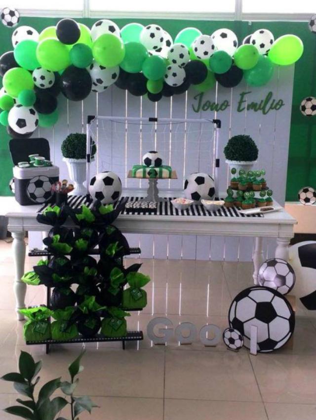 Decoração de festa de futebol