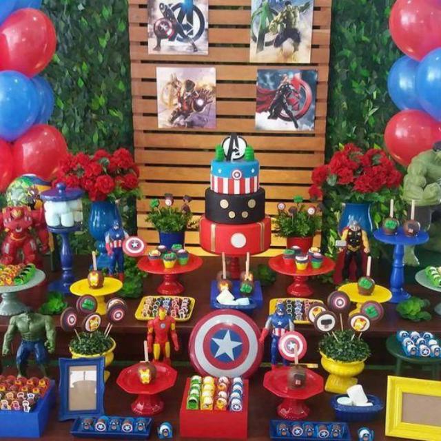 Decoração de festa dos Vingadores