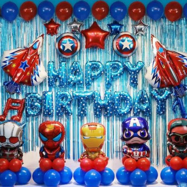 Balões de festa dos Vingadores