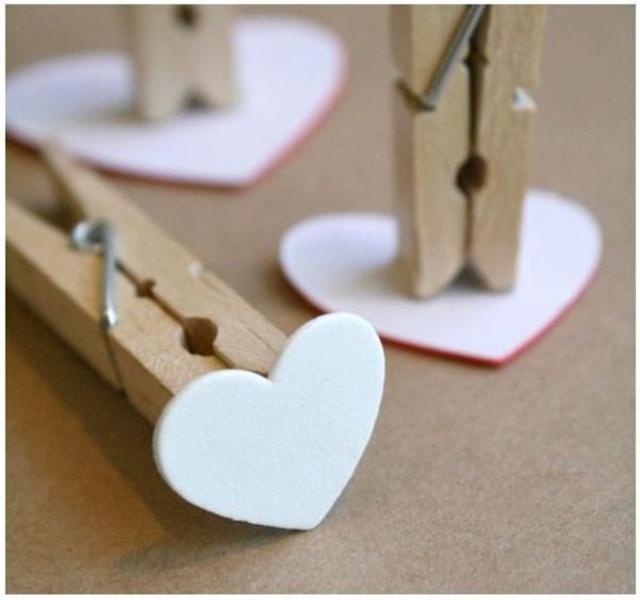 Carimbos de EVA em formato de coração