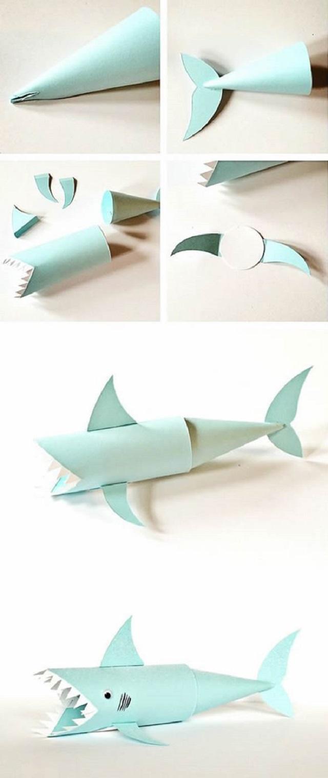 Tubarão de rolo de papel higiênico