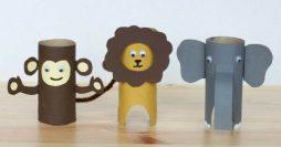 Brinquedos com Rolo de Papel Higiênico: 25 Bichinhos pra Fazer com as Crianças