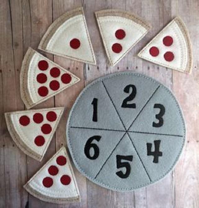 Pizza numérica de feltro