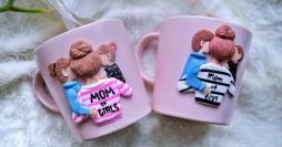 24 Ideias de Presentes para o Dia das Mães: Canecas Decoradas com Biscuit