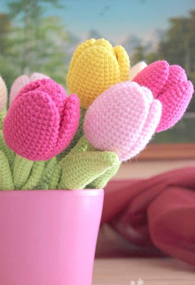 Flores de amigurumi